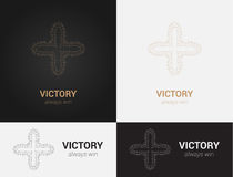 Design templates in black, grey and golden colors. Creative mandala logo, icon, emblem, symbol. Stock Photos