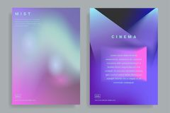 Design templates with vibrant gradient shapes. Set of page design templates with vibrant gradient background. Trendy modern design. Applicable for placards Royalty Free Stock Photo