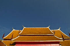 Design of Thailand. The old roof is a roof of an old Thailand Royalty Free Stock Photography