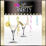 Design theme for cocktail party invitation Royalty Free Stock Photos