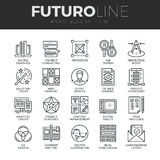 Design Thinking Futuro Line Icons Set vector illustration