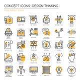Design Thinking ,Pixel perfect icons ,Pix Royalty Free Stock Photography