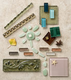 Design with tile elements Stock Photos