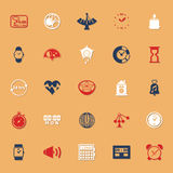 Design time classic color icons with shadow Royalty Free Stock Images