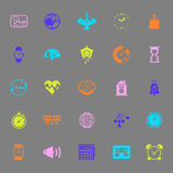 Design time color icons on gray background Royalty Free Stock Photo