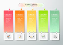 Design timeline infographic template Royalty Free Stock Photos