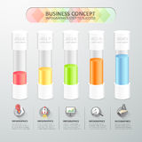 Design timeline infographic template  for business concept. Royalty Free Stock Photo