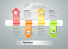 Design timeline infographic template  for business concept. Royalty Free Stock Photography