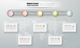 Design timeline infographic template  for business concept. Stock Photography
