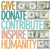 A design to inspire charitable giving Royalty Free Stock Images
