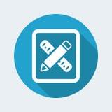 Design-Tool-Ikone Lizenzfreie Stockfotos