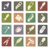 Design-Tool-Ikonen Stockbild