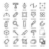 Design-Tool-Ikonen Stockbilder