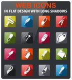 Design-Tool-Ikonen eingestellt Lizenzfreie Stockbilder