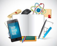Design tools and pictures concept illustration Royalty Free Stock Image