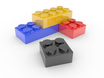 Design from toy building blocks Royalty Free Stock Photo