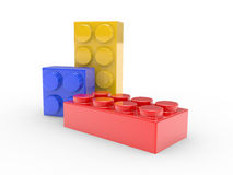 Design from toy building blocks Royalty Free Stock Images