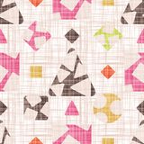 The design of the tracery with geometric shapes. The design of the tracery with geometric shapes vector illustration. Seamless pattern background with rhombus Stock Photo