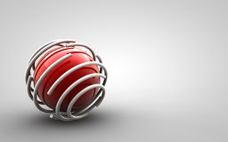 Design - trapped red ball. Trapped red ball on gradient background stock illustration