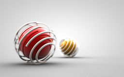 Design - trapped red ball Royalty Free Stock Images