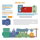 Design Travel brochures Stock Image