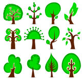 Design tree set Stock Illustration