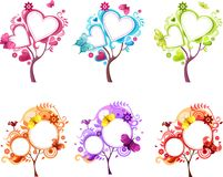 Design tree set Stock Images