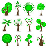 Design tree set Royalty Free Stock Photos