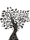 Design of Tree silhouette Royalty Free Stock Photos