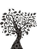 Design of Tree silhouette Royalty Free Stock Photos