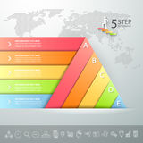 Design triangle infographic template. Business concept infographic Royalty Free Stock Photo