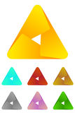 Design triangle logo element. Stock Photo