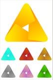 Design triangle logo element. Infinite cross ribbon vector design icon template Stock Photo