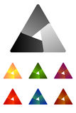 Design triangle logo element. Stock Photography