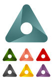 Design triangle logo element. Stock Image