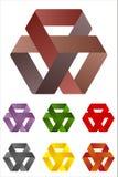Design triangles logo element. Infinite cross ribbon vector icon template Stock Illustration