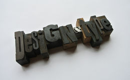 Design and Type Stock Image