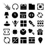 Design-u. Entwicklungs-Vektor-Ikonen 3 Lizenzfreie Stockfotos