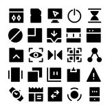 Design-u. Entwicklungs-Vektor-Ikonen 7 Stockfotografie
