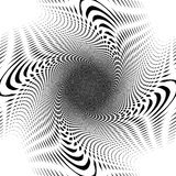 Design uncolored interlaced spiral background Stock Image