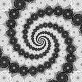 Design uncolored spiral movement background. Twirl Stock Image
