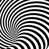 Design uncolored whirlpool illusion background. Design uncolored whirlpool motion illusion background. Abstract striped distortion backdrop. Vector-art vector illustration