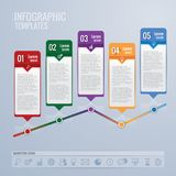Design- und Marketing-Ikonen Infographic Stockfoto