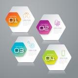 Design- und Marketing-Ikonen Infographic Lizenzfreie Stockfotografie