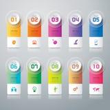 Design- und Marketing-Ikonen Infographic Stockbilder