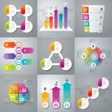 Design- und Marketing-Ikonen Infographic Lizenzfreies Stockfoto