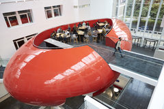Design of university mezzanine social area, elevated view Royalty Free Stock Photography