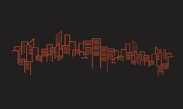 Design urban silhouette on black backgrounds Royalty Free Stock Images