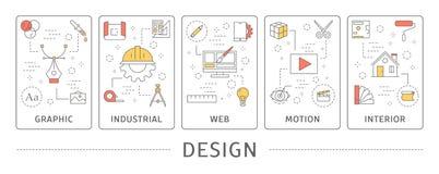 Design usage set. stock illustration