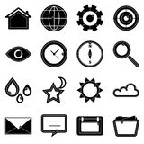 Design useful web icons on white background Royalty Free Stock Photos